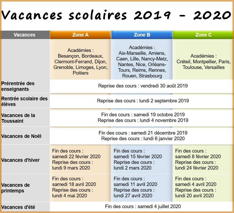 Calendrier Vacances Scolaires 2019 Nantes.Songeons Site De La Commune